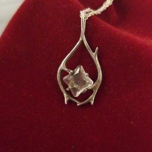 Antler crystal necklace